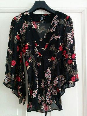 H&M Blusa tipo kimono multicolor
