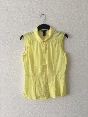 H&M gelbe ärmellose Bluse 40