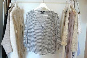 H&M gemusterte Bluse oversized