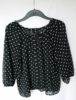 H&M gepunktete Bluse
