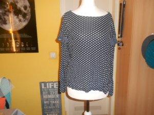H&M- gepunktetes T-Shirt Gr. M