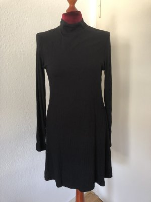 H&M Geripptes Schwarzes Kleid M 38
