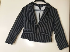 H&M Denim Blazer grey-black cotton