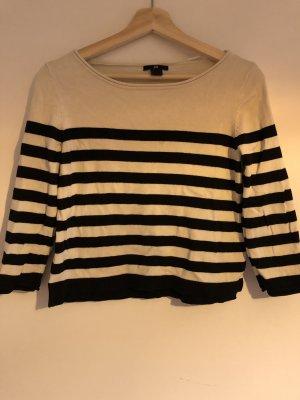 H&M Jersey de lana blanco puro-negro