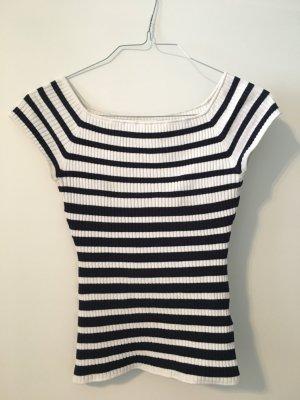 H&M gestreiftes Baumwollshirt im Marine-look