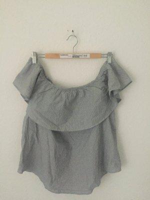 H&M gestreiftes Carmen Shirt