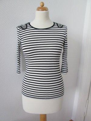 H&M gestreiftes Shirt mit Paillettenbesatz Gr. xs/34