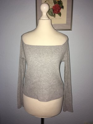 H&M Divided Knitted Top light grey