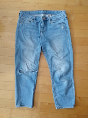 H&M Jeans 3/4 bleu azur