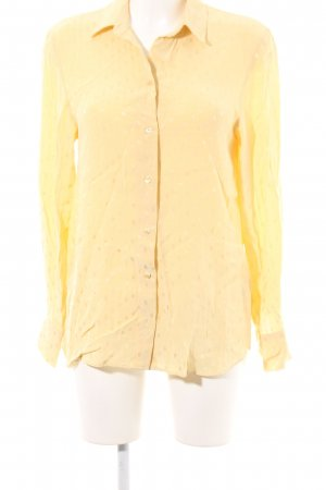 H&M Splendor Blouse pale yellow spot pattern casual look