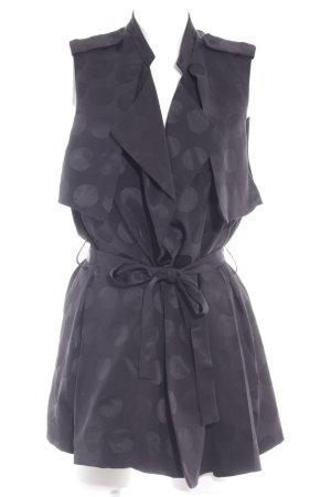 H&M Glanzbluse schwarz Punktemuster