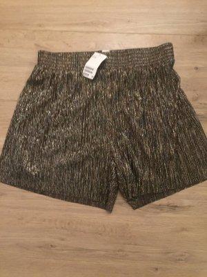 H&m Glitzer Shorts 40, Gold Silber neu