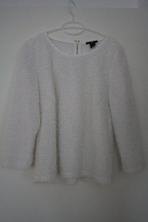 H&M Glitzerpullover Pullover weiß