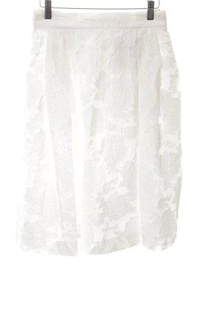 H&M Jupe évasée blanc motif de fleur style décontracté