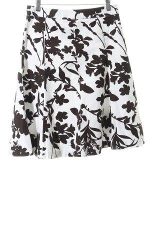 H&M Jupe évasée brun foncé-blanc style bohème