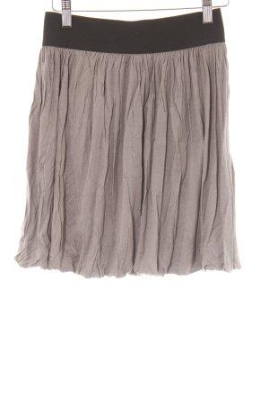 H&M Jupe évasée gris brun style décontracté