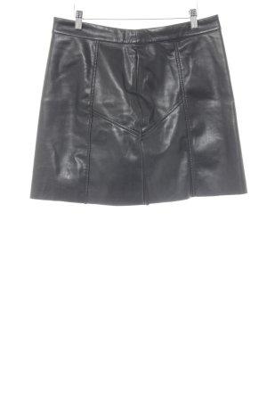 H&M Jupe évasée noir Look de motard