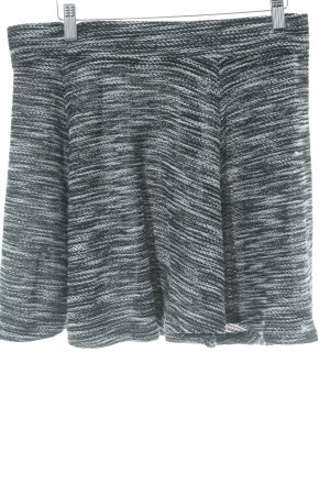 H&M Glockenrock schwarz-weiß meliert Casual-Look