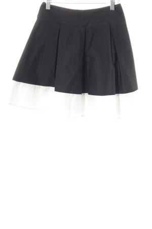 H&M Jupe évasée noir-blanc cassé élégant