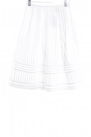 H&M Jupe évasée blanc motif abstrait style décontracté