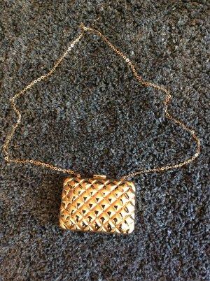 H & M goldene Clutch Metall