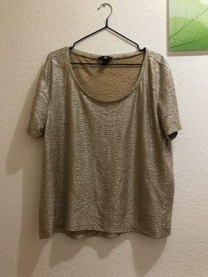 H&M goldenes Shirt Glitzer M 38 Oversized
