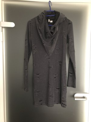 H&M Hooded Dress black-grey