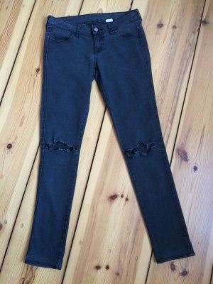 H&M graue Jeans im Destroyed-Look W28 L32