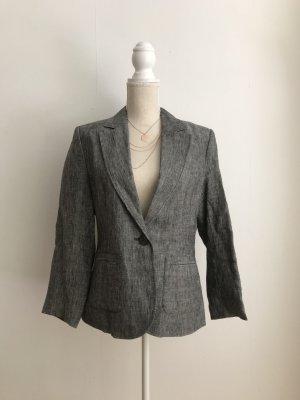 H&M Grauer Damen Blazer Größe 40 / 10 Blazer Jacke Schick