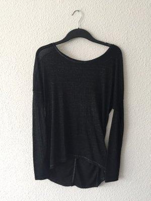 H&M grey Longtop schwarz grau meliert S
