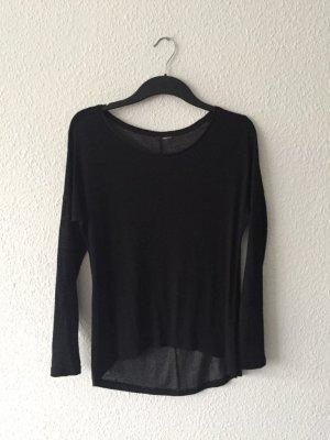 H&M grey Longtop schwarz S