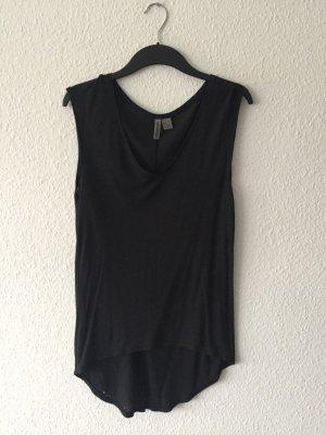 H&M grey schwarzes Shirt XS