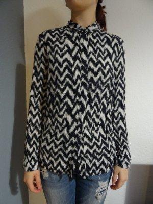 H&M Blusa de manga larga blanco-negro