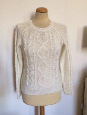 H&M Jersey trenzado blanco puro-crema