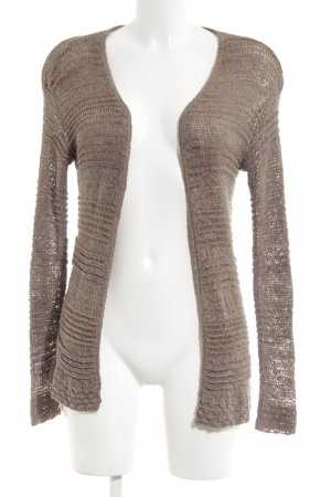 H&M Coarse Knitted Jacket brown casual look