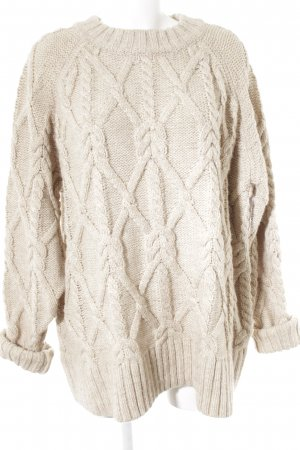 H&M Grobstrickpullover beige Zopfmuster Casual-Look