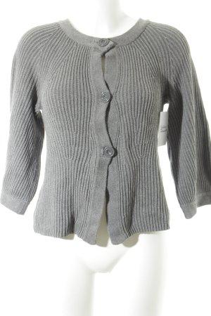 H&M Grobstrickpullover grau schlichter Stil