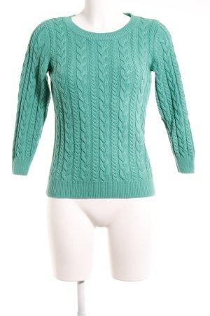 H&M Grobstrickpullover grün Steppmuster Casual-Look