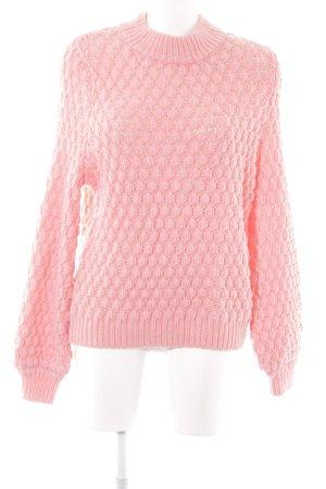 H&M Grof gebreide trui roze casual uitstraling