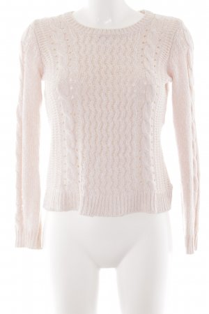 H&M Grobstrickpullover rosé Webmuster Casual-Look