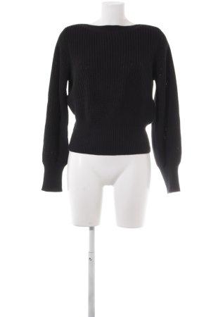 H&M Pull à gosses mailles noir style décontracté