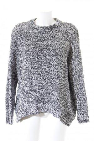 H&M Grobstrickpullover weiß-schwarz Casual-Look