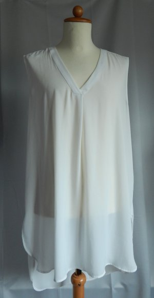 H&M Top lungo bianco sporco Poliestere