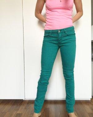 H&M grüne jeanshose Gr 42 Blogger
