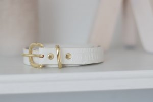 H&M Faux Leather Belt white imitation leather