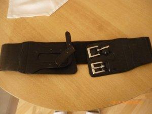 H&M Cinturón de cuero negro tejido mezclado