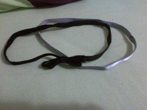 H&M Haarbänder 2 Stück schwarz grau