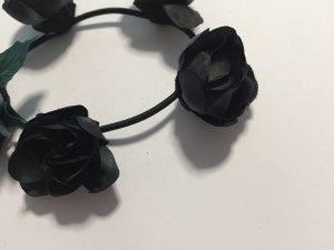 H&M Haargummi Blumen schwarz