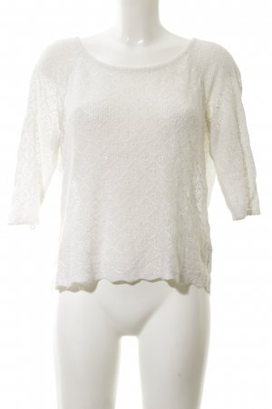 H&M Crochet Sweater white-natural white casual look