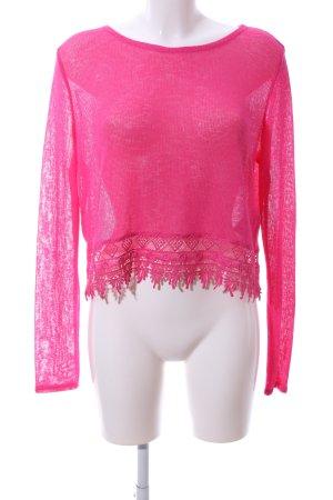 H&M Häkelpullover pink Elegant